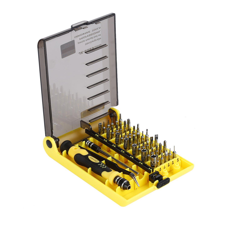 Mini portable precision screwdriver bits 45 in 1 repair - Destornilladores de precision ...