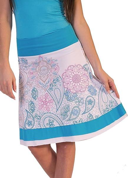 Coton du Monde - Falda - para Mujer Multicolor 46: Amazon.es: Ropa ...