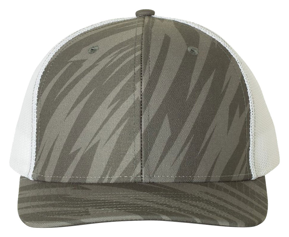 Richardson HAT メンズ B0778QJPKS Adjustable|Streak Charcoal/ White Streak Charcoal/ White Adjustable