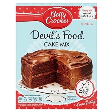 Betty Crocker Mezcla De Pastel Del Diablo (500g): Amazon.es ...
