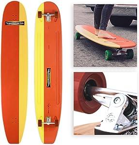 Hamboards Classic Handcrafted Longboard Skateboard for Landsurfing & Land Paddling - Laminated Birch/Super Hard Bamboo
