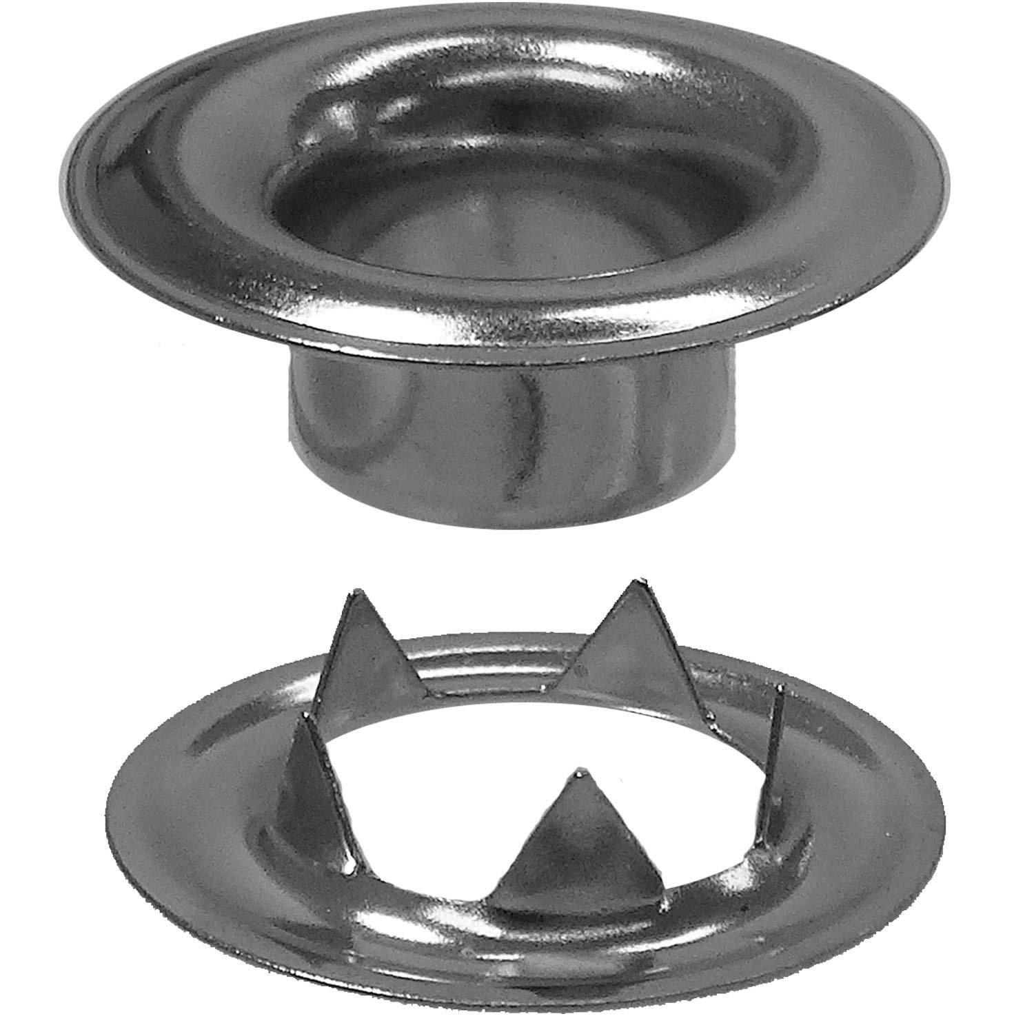 Stimpson Sheet Metal Grommet and Teeth Washer Nickel-Plated Durable, Reliable, Heavy-Duty #0 Set (14,400 Pieces of Each) by Stimpson Co., Inc. (Image #1)