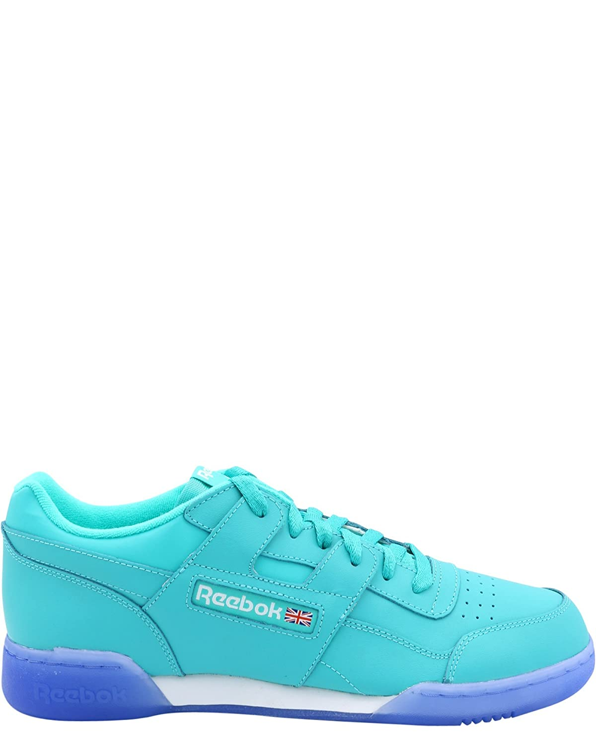 728b316b08f Reebok Men s Workout Plus Sneaker Teal White Ice 12 D(M) US  Buy Online at  Low Prices in India - Amazon.in