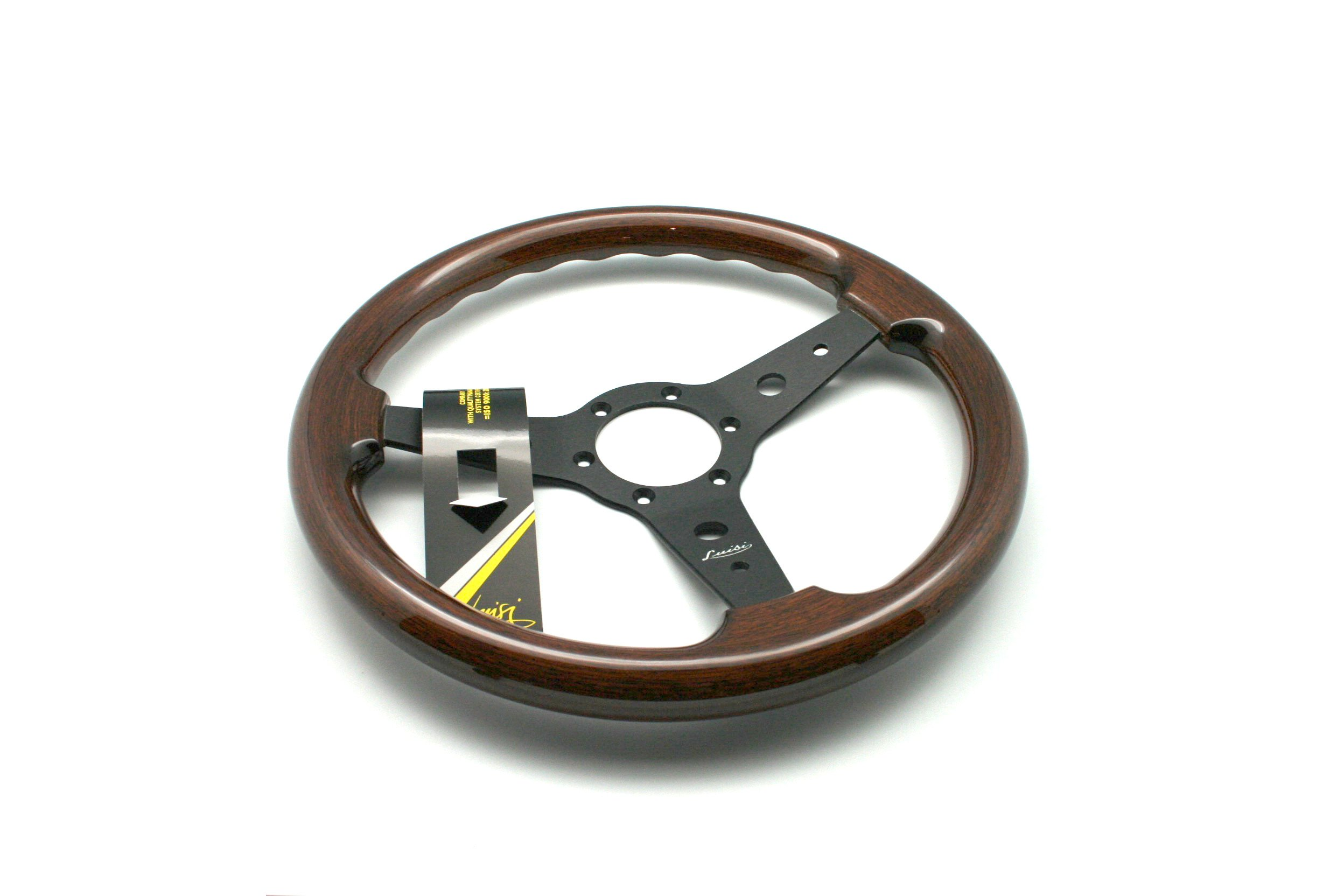 Woodys WP-SWPB9801.2 Rosewood Chrome Truck Steering Wheel Beautiful African Hardwood
