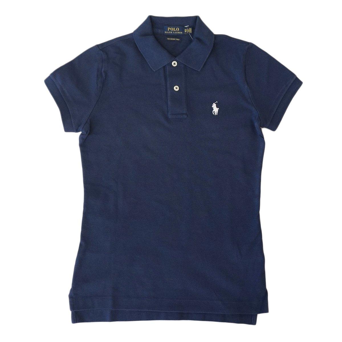 (ポロ ラルフローレン) POLO Ralph Lauren ポロシャツ ポニー ワンポイント レディース [並行輸入品] B013FM09T6 CF-S|ネイビー/ホワイト ネイビー/ホワイト CF-S