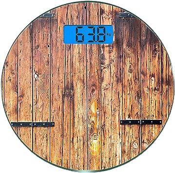 Escala digital de peso corporal de precisión Ronda Rústico Báscula ...