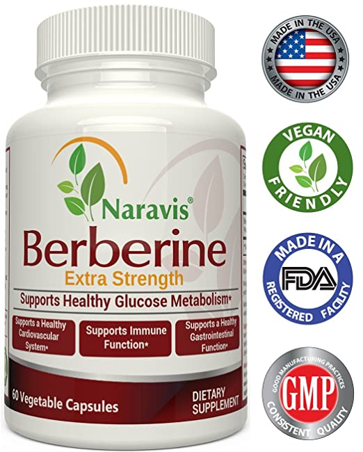 Naravis Berberine HCI Complex Supplement