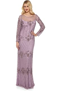 Dolores Vintage Inspired Maxi Prom Dress in Lavender