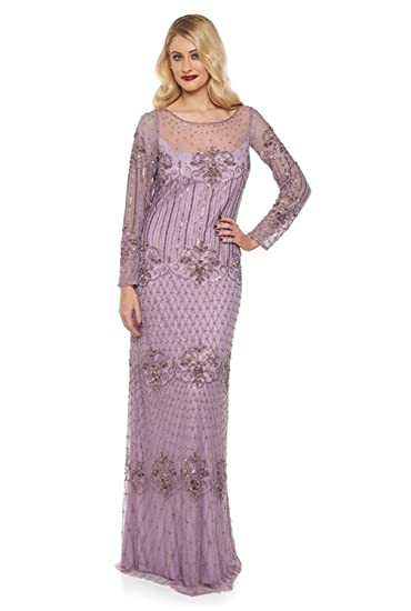 gatsbylady london Dolores Vintage Inspired Maxi Prom Dress in Lavender (US4 EU36)