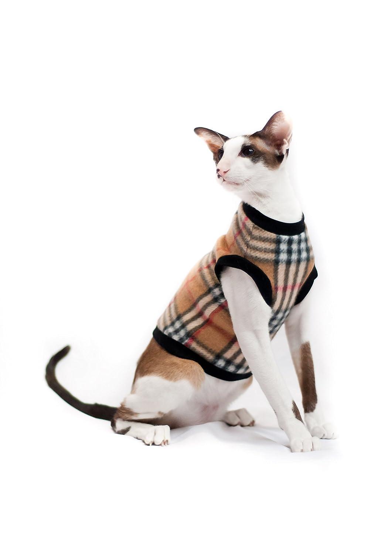 Kotomoda Katze Kleidung Warm Pullover Burberry