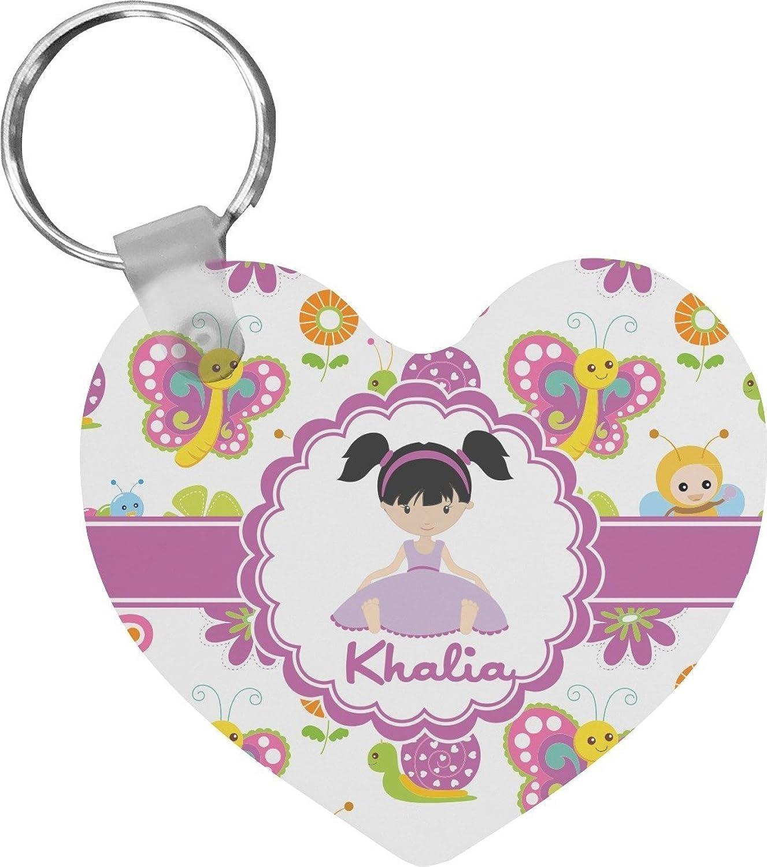 Butterflies Heart Keychain (Personalized)