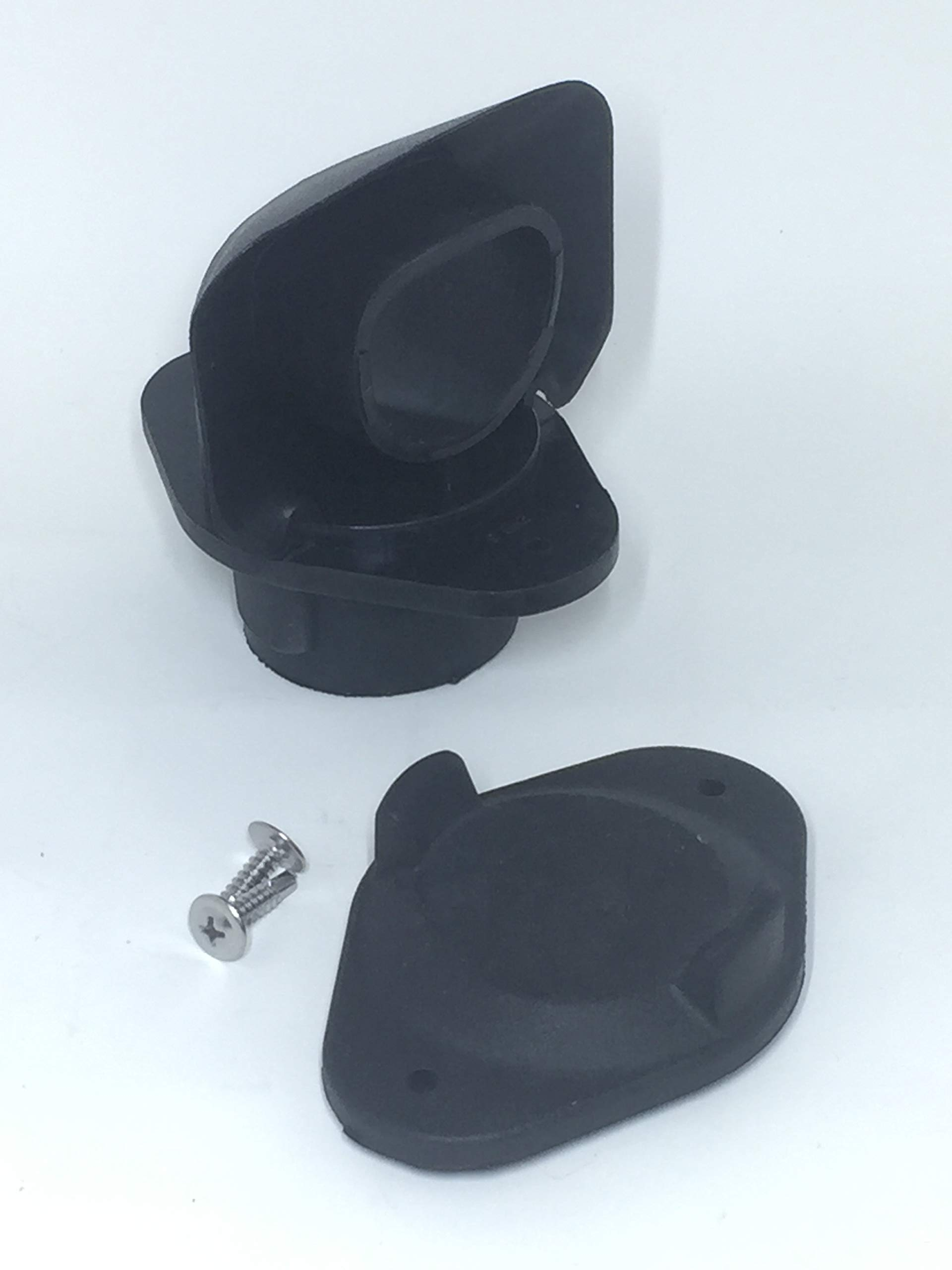 EarthMinded DIY Rain Barrel Diverter Parts 2x3, 3x4 Round Downspouts (Diverter, Winter Cover Plate, Parts to fit 2x3 Downpipe)