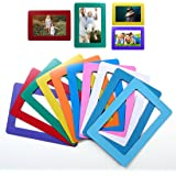 "Idyewant 6-pack Magnetic Picture Frames for Refrigerator 5""x7""and 4""x6"" mixed colorful photo note holder"
