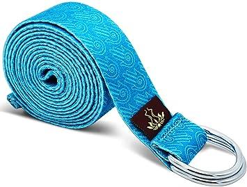 Amazon.com: Heathyoga - Correa de yoga hecha de algodón ...