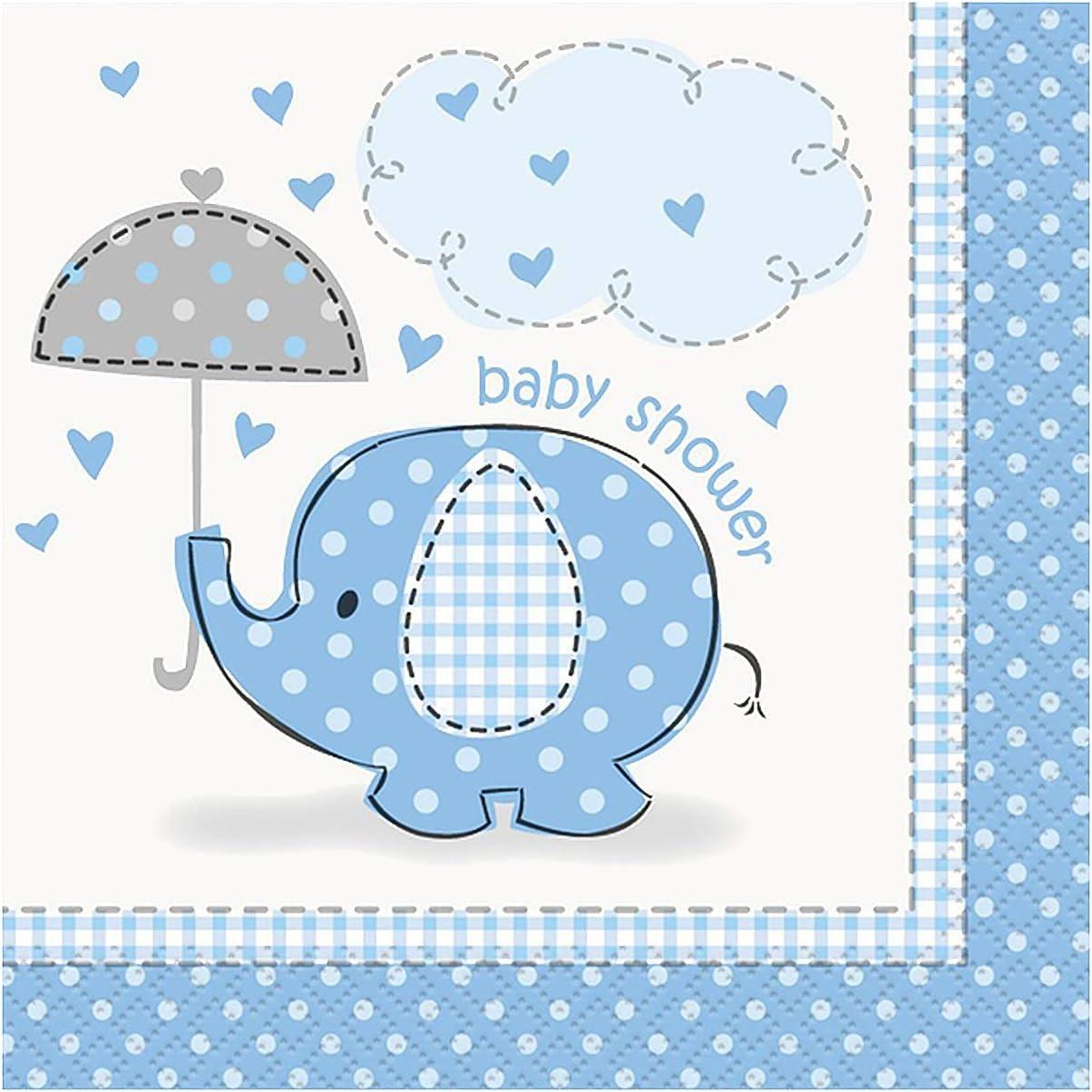 Baby Shower Boy Blue Umbrellaphants Foil 12ft Banner //Party//Tableware new