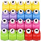 Paper Punches Set, Kattool Mini Crafting Paper Punch Crafts Puncher Image Hole Cutters for Scrapbooks Albums Photos Cards and