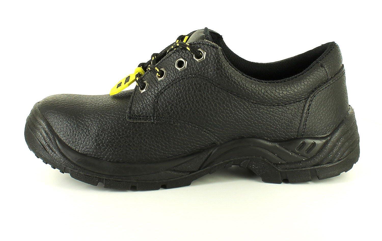 NUEVO Hombre/Caballeros/Negro Unisex Tradesafe Perú Con Cordones Seguridad Zapatos - Negro - GB Tallas 3-13 - Negro, 40