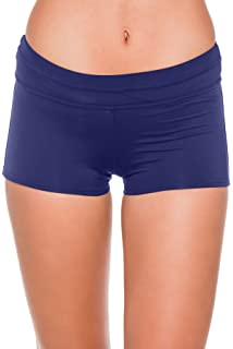 0a00469c1006 Amazon.com: JAG Women's Solid Boyshort Swim Bottom, Navy, Large ...