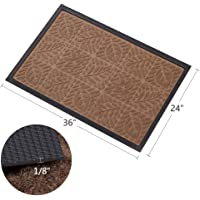 Amagabeli Large Outdoor Door Mats Rubber Shoes Scraper