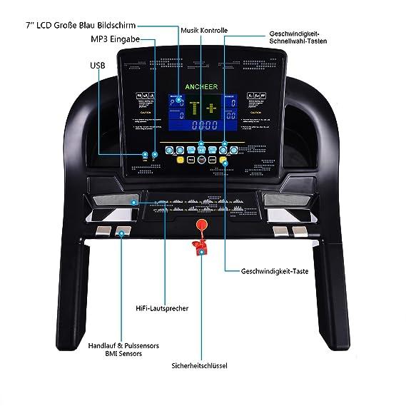 ancheer cinta de correr eléctrica plegable con sistema de ...