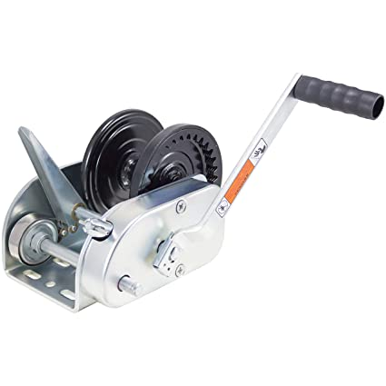 Dutton-Lainson Company DL3500B Black 3500 lbs 2-Speed Pulling Winch with  Plated Hand Brake