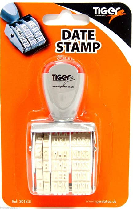 Date Stamp Rubber Office Stamper Adjustable Day Month Year New