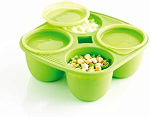 Mastrad Babymoule F52208 4 Part Food Container in Silicone and Polypropylene / Bisphenol-free A 280 ml by Mastrad
