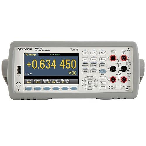AGILENT TECHNOLOGIES 34461A DIGITAL MULTIMETER, AUTO MANUAL, 6-1 2