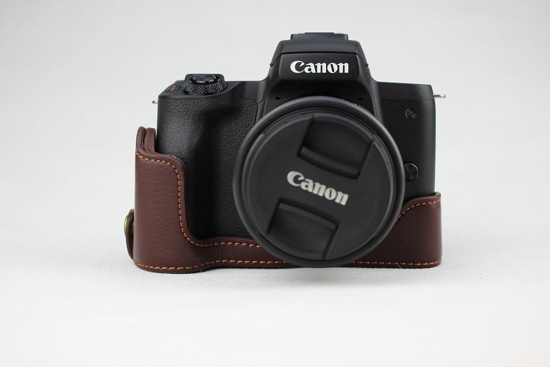 Zakao - Funda de Piel auténtica para cámara Canon EOS M50 ...