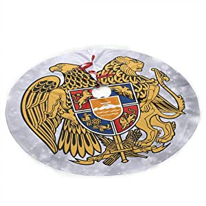 Amazon.com: Qinf Xmas Tree Skirt Coat of Arms of Armenia ...