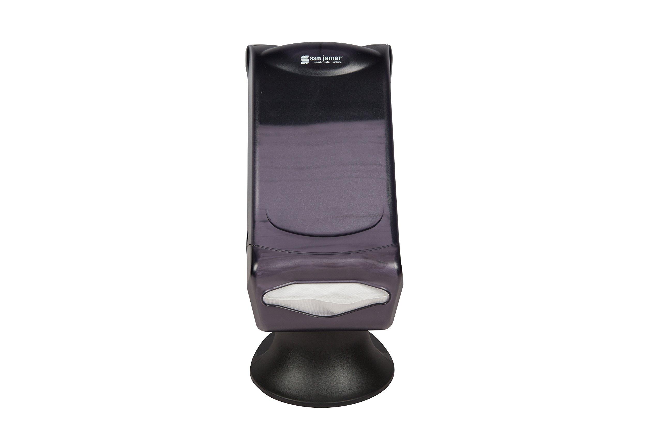 San Jamar H5005S Venue Fullfold Control Napkin Dispenser with Stand, 500 Capacity, 8'' Width x 17-1/2'' Height x 13'' Depth, Black Pearl