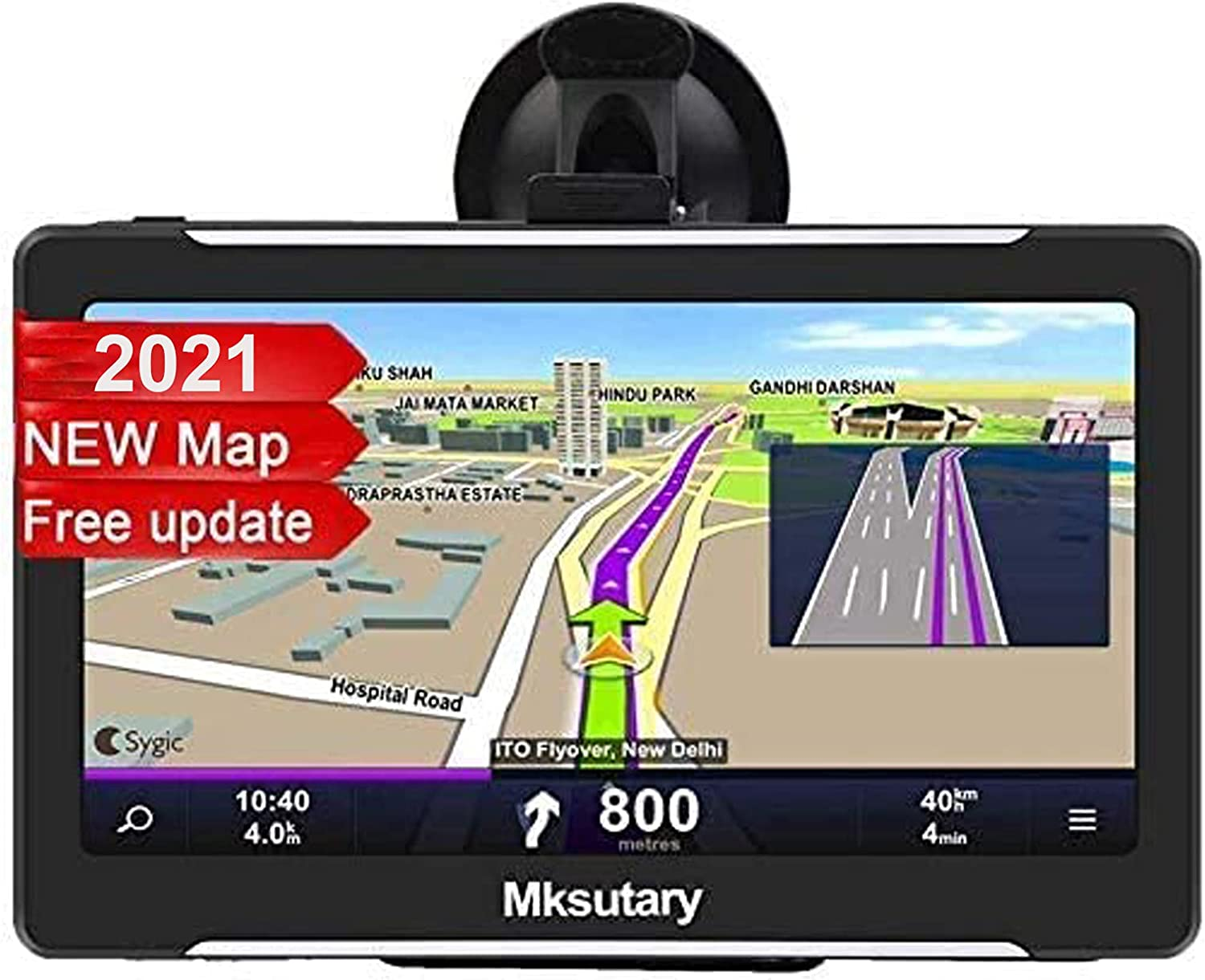 with Sun Visor and Free Lifetime Update map Car GPS Navigator Voice Transition Direction Driving Alarm 7 Inch Car GPS Navigation System 8GB Voice Navigation