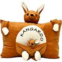 Prachi Toys Plush Stuffed Soft Toy Teddy Bear Pillow Kids / Baby Cushion (Brown)