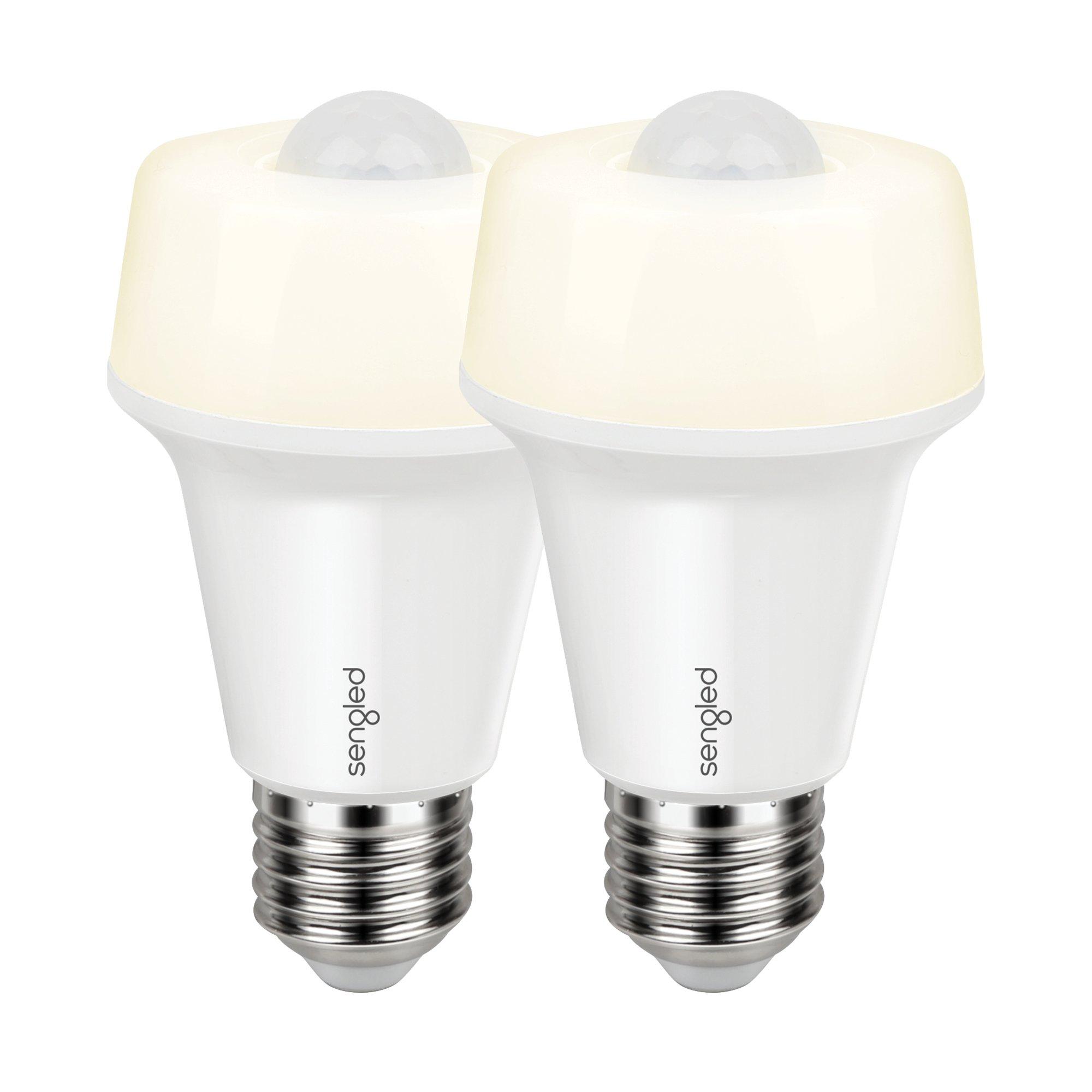 Sengled LED with Motion Sensor (Smartsense), Soft White 2700K, A19 60W Equivalent, Indoor Use, 2 Pack