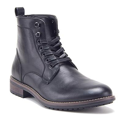 1ff93bc2ab Jazame Men's Tall Distressed Zipped Riding Dress Boots, Black, ...