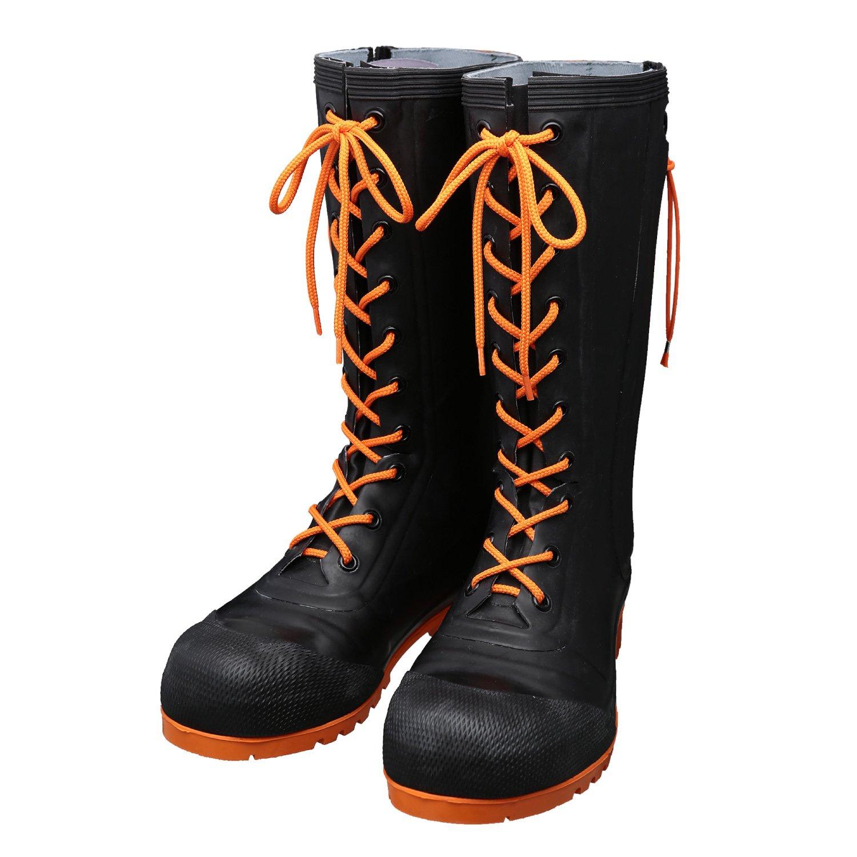 AB090(ブラック)AB110(ブラック/オレンジ) 安全編上靴 HSS-001 B01M0DOMF2 28.0cm|ブラック/オレンジ ブラック/オレンジ 28.0cm