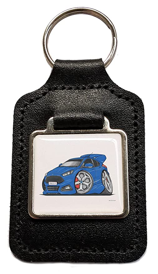 Llavero, diseño de Ford Focus ST Azul caricatura Cuero ...