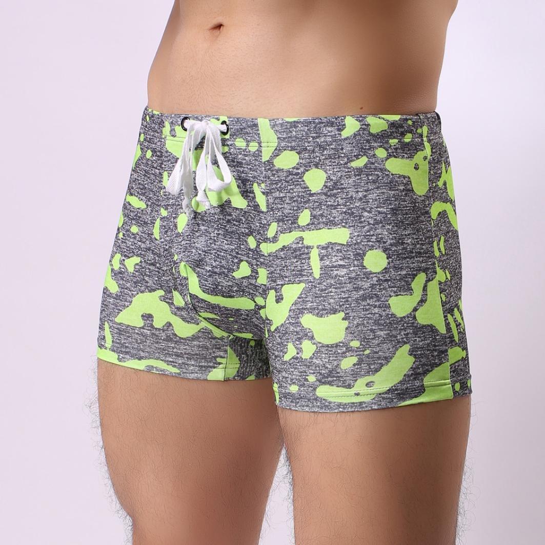 Bikini bandeau Camo Pantalones de natación, YanHoo® Pantalones cortos de traje de baño transpirable para hombre Pantalones cortos de traje de baño Bikini de ...