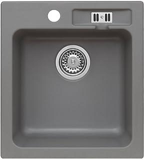 Spüle Granit Verbundspüle Küchenspüle Einbauspüle Auflage 425 x ... | {Spülbecken granit grau 34}
