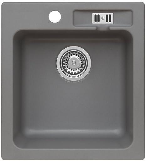 Granite Sink Sydney Kitchen Sink 45 cm Sink GRAU METALLIC: Amazon.co ...