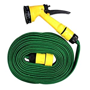 ZIZLY Hose Pipe with Washing Spray Jet Gun for Cars Bikes and Garden 10Meter