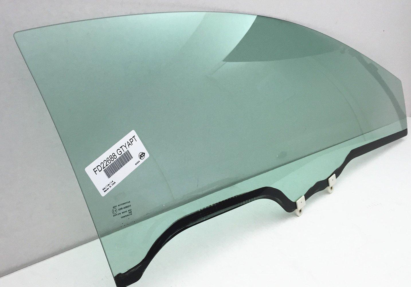 NAGD Fits 2006-2011 Honda Civic 2Door Coupe Passenger Side Right Front Door Window Glass FD22688GTY