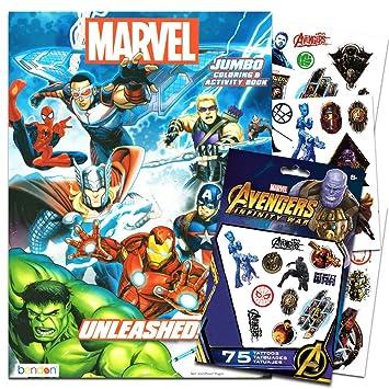 Amazon.com: Marvel Avengers para colorear y actividad Libro ...