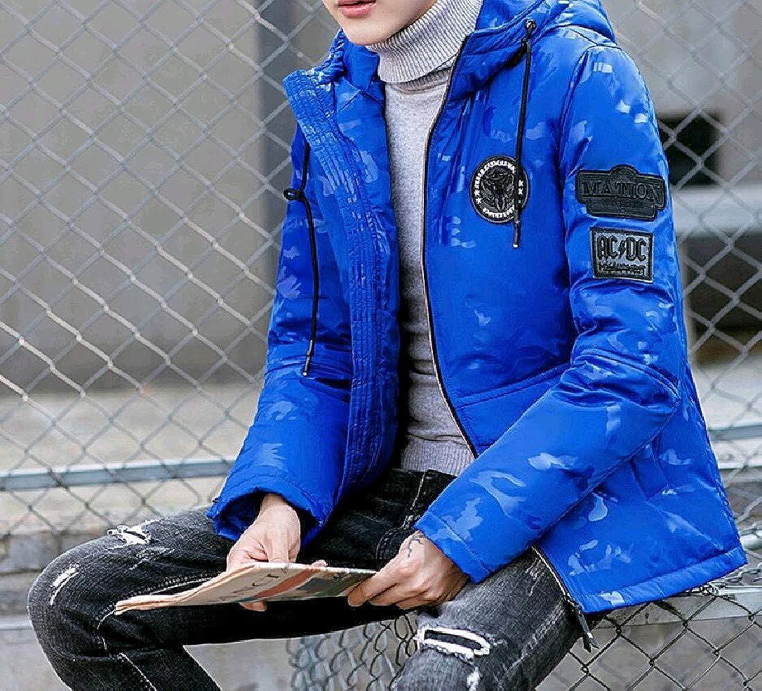 AngelSpace Men Juniors Workout Plus Size Light Weight Outdoor Down Coat