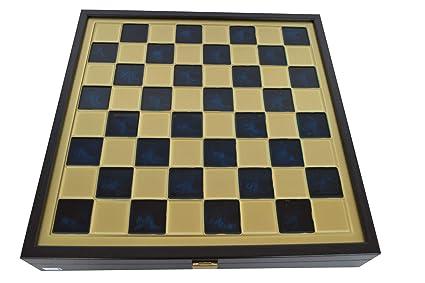 Case Blue Board Game : Amazon.com: minoan period gold silver chess set wooden case blue