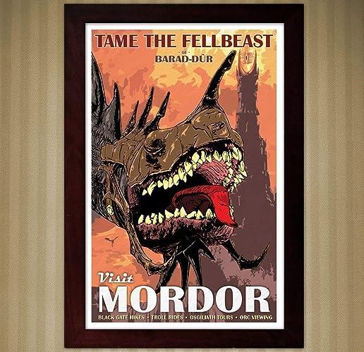 LOTR - Tame The Fellbeast - Vintage Travel Poster - 11x17