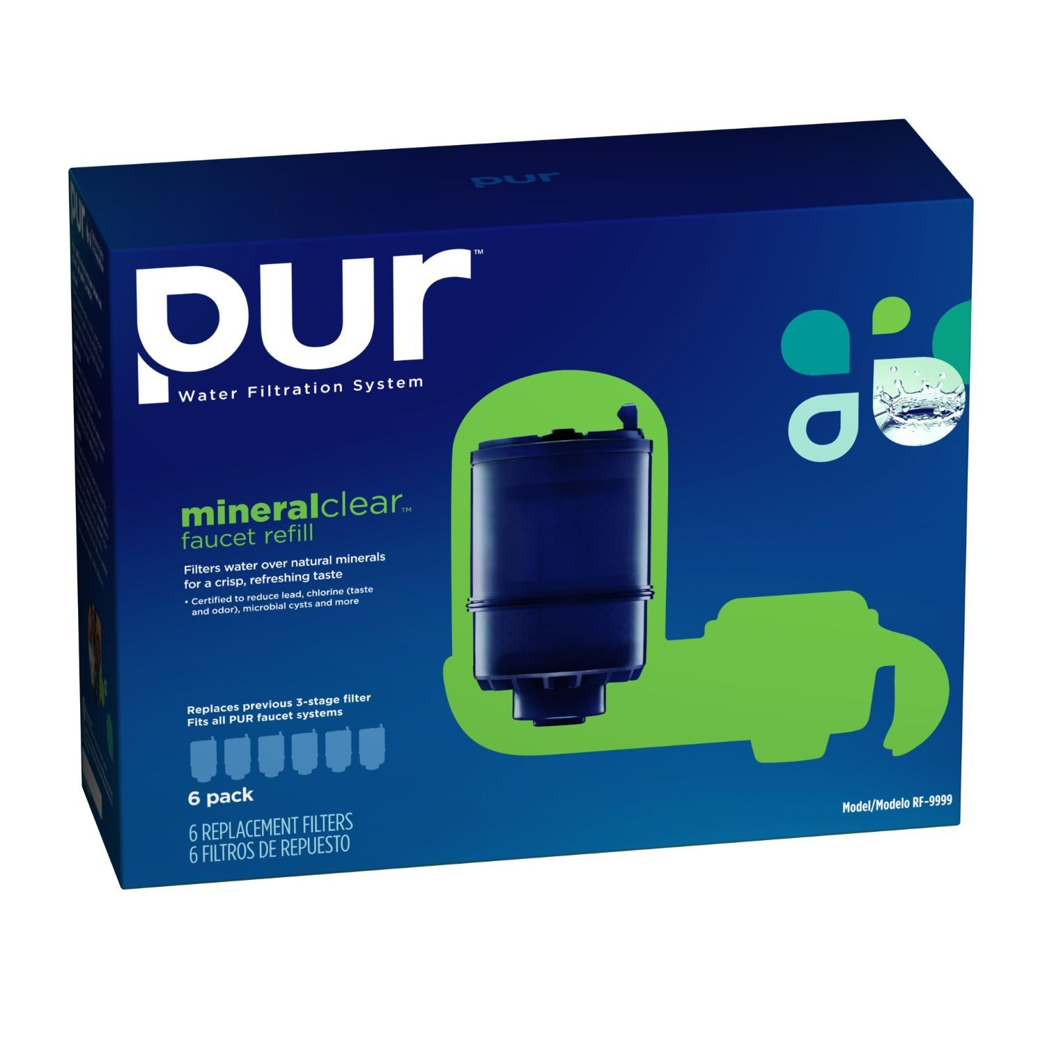 Amazon.com : PUR MineralClear Faucet Refill RF-9999, 6 Pack with ...