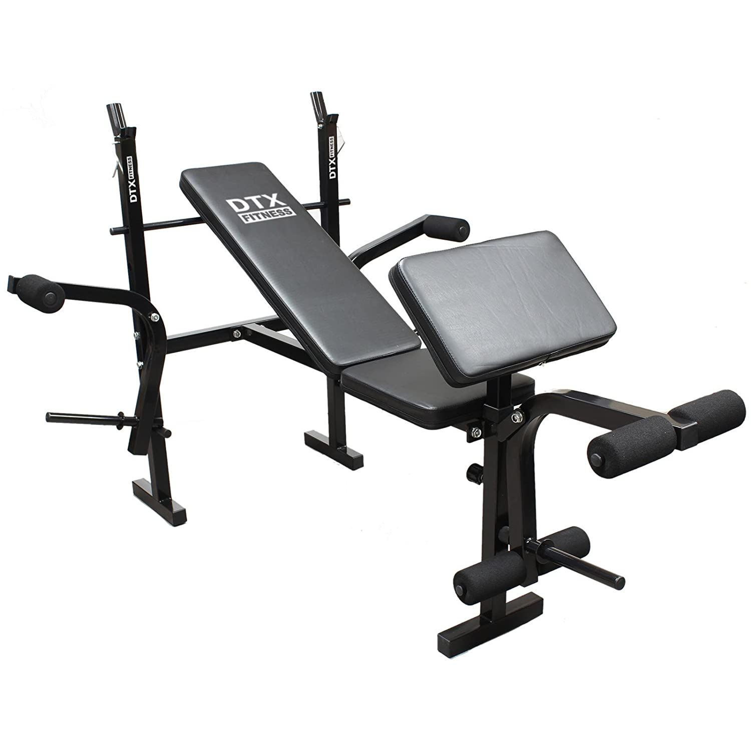 Bench Press Abs Part - 49: DTX Fitness All-in-One Dumbbell/Barbell Weight Bench With Butterfly U0026  Preacher Curl: Amazon.co.uk: Sports U0026 Outdoors