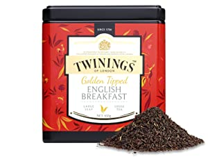 Twinings Tea - Discovery Collection - Golden Tipped English Breakfast - 100gr / 3.52oz Caddy Loose Tea