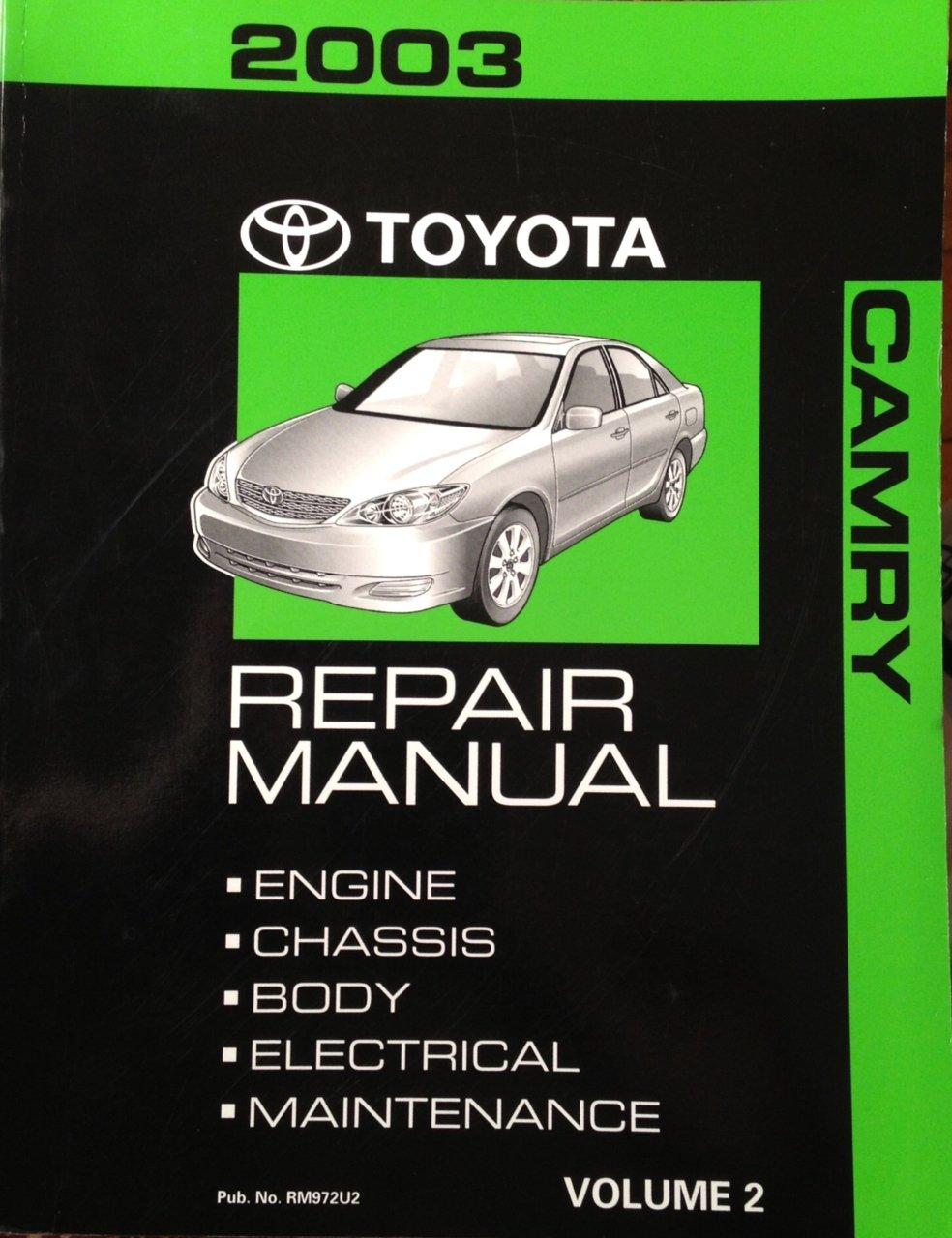 2003 toyota camry maintenance manual